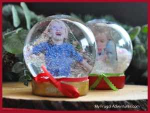 DIY snowglobe for the holidays