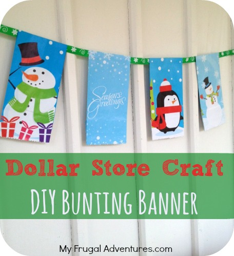 dollar store crafts for christmas easy diy bunting banner - Dollar Store Christmas Crafts