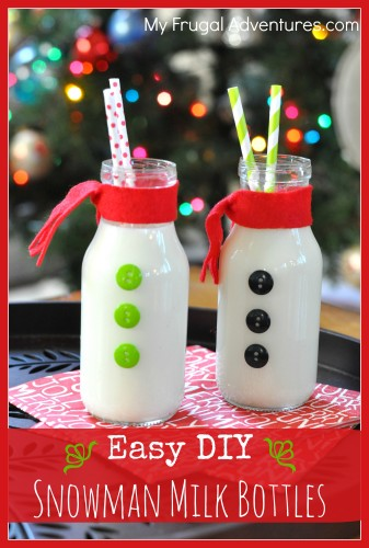 Easy Snowman Milk Bottles Fun Christmas Craft My