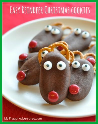 Quick & Easy Reindeer Christmas Cookies - My Frugal Adventures