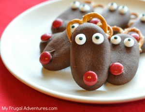 Easy Reindeer Cookies_ so fun and so easy!