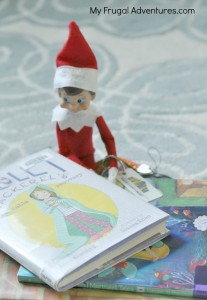 Elf on the Shelf Ideas- Elf visits the library