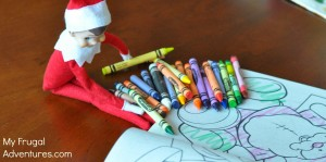 Elf on the Shelf Ideas_ Elf Likes to Color