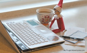 Elf on the shelf ideas- balancing the checkbook