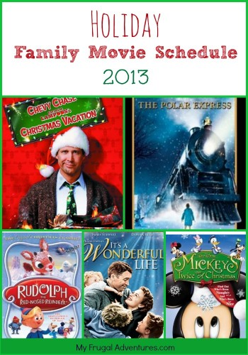 Holiday Movie Schedule