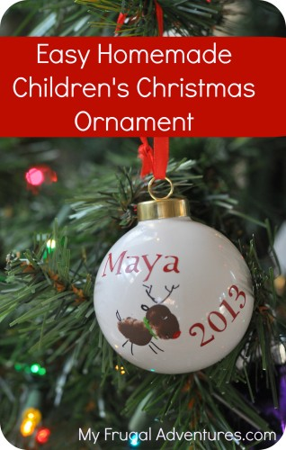 Homemade Children S Christmas Ornament