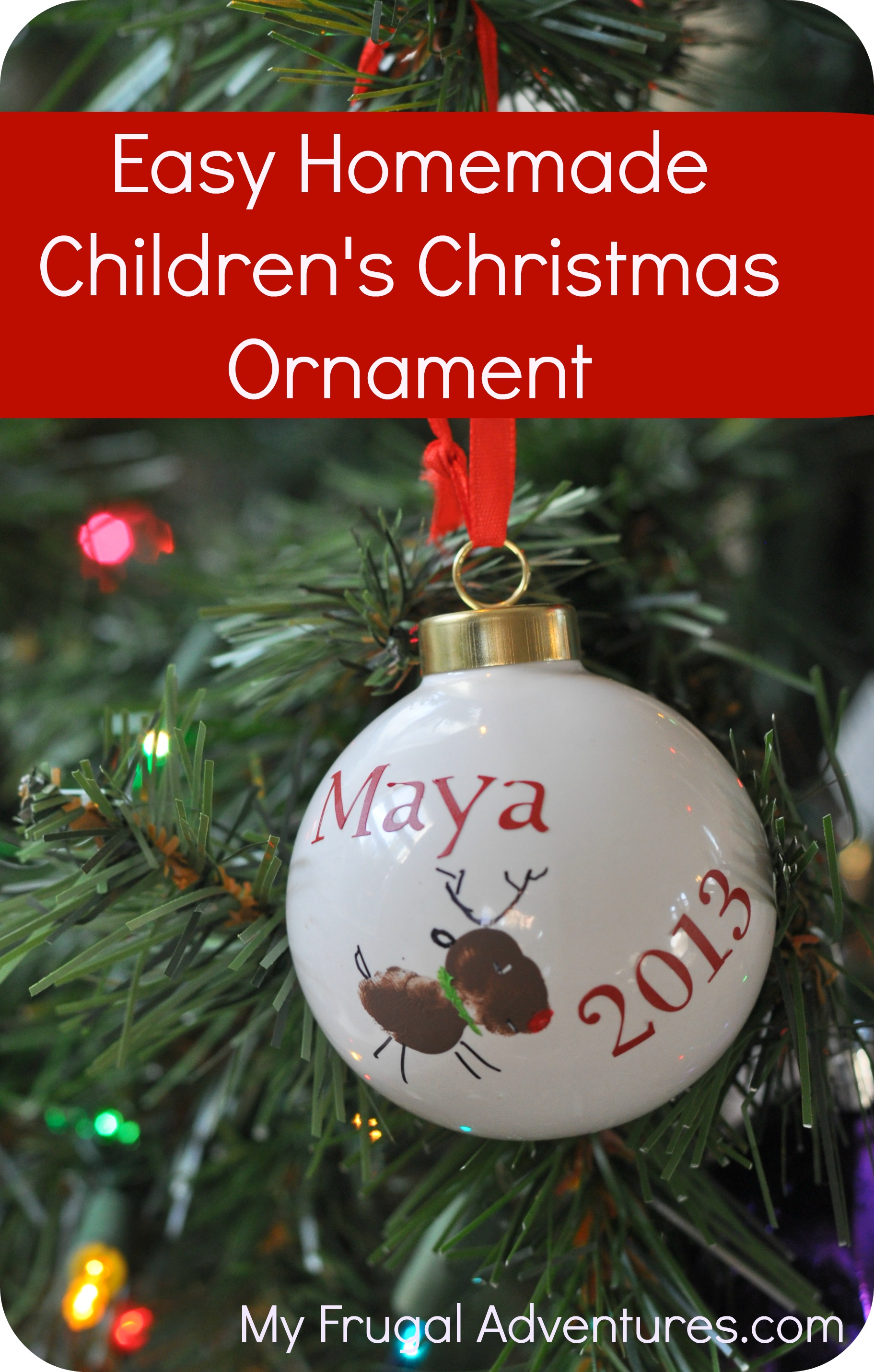DIY Children\'s Christmas Ornament - My Frugal Adventures