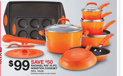 rachael ray 15 piece cookware set beats black friday my frugal adventures. Black Bedroom Furniture Sets. Home Design Ideas