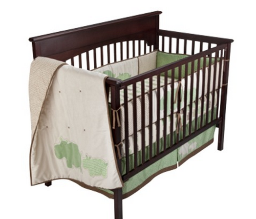 Simple This adorable spotted Hippo crib bedding set is marked down to at Target The set includes