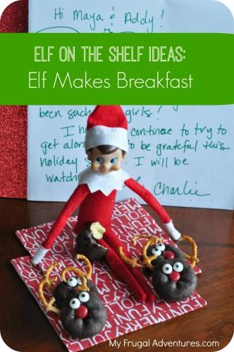 elf on the shelf ideas- rudolph donuts