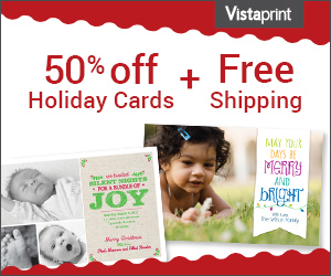 its that time of year when we need to start ordering our holiday cards there is a nice deal at vistaprint with 50 off holiday cards and free shipping - Vistaprint Holiday Cards