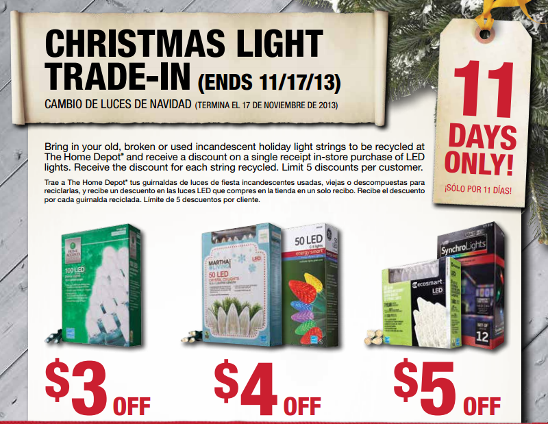You can trade in your old Christmas lights at Home Depot through 11/17 ...