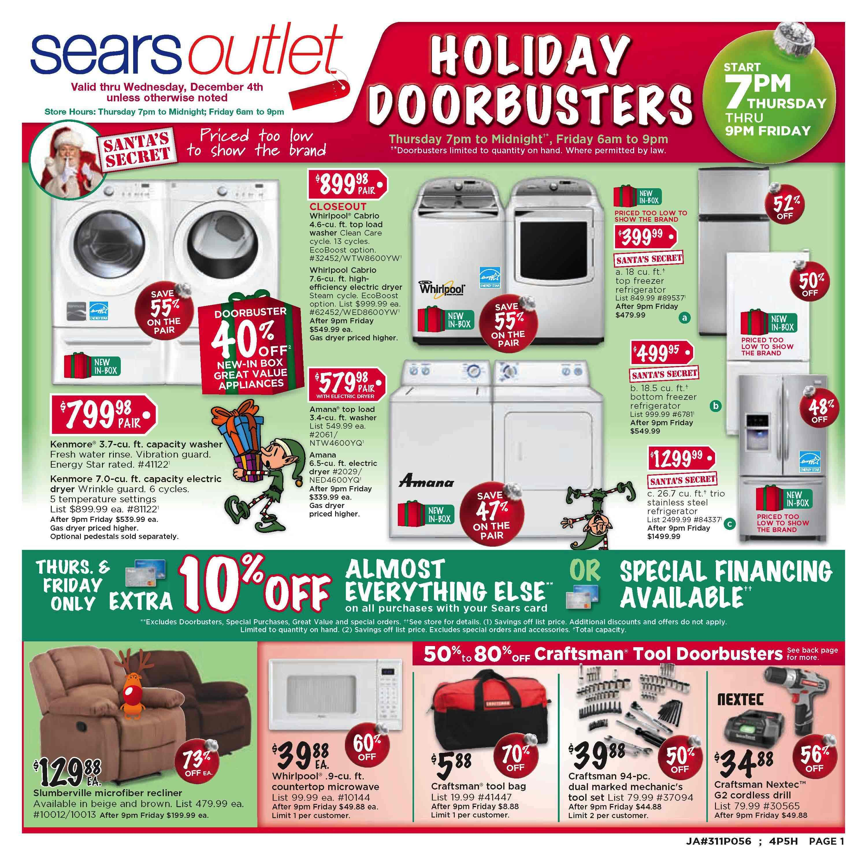 Sears Outlet 2013 Black Friday Ad My Frugal Adventures