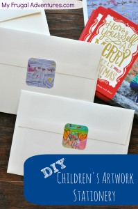 Children's Artwork Stationery- so easy and a fantastic extra touch to letters and cards.
