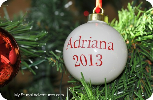 Homemade Children's Christmas Ornament
