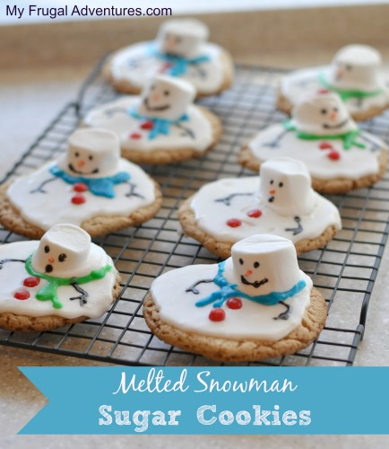 Melted snowman cookies recipe