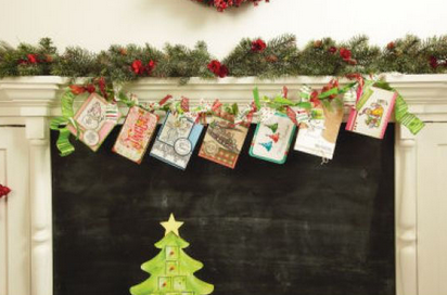 If you are trying to figure out how to display your Christmas cards, here is a quick and easy garland idea. You can get all the details here.