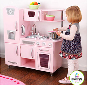 Here Is An Adorable Little Play Kitchen For The Littles. This Is Made By  Kidkraft And I Love This Style Of Kitchen  It Reminds Of The Pottery Barn  Kids ...