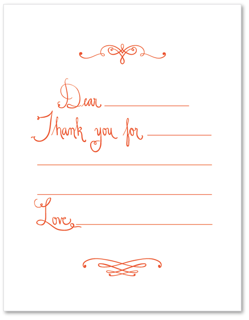 Dashing image within thank you notes printable