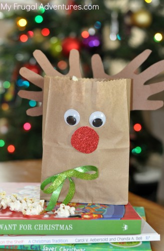 Rudolph Treat Bag For Children Easy Christmas Craft Project My Frugal Adventures