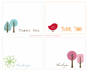 picture relating to Free Printable Thank You Cards With Photo referred to as Cost-free Printable Thank On your own Notes - My Frugal Adventures