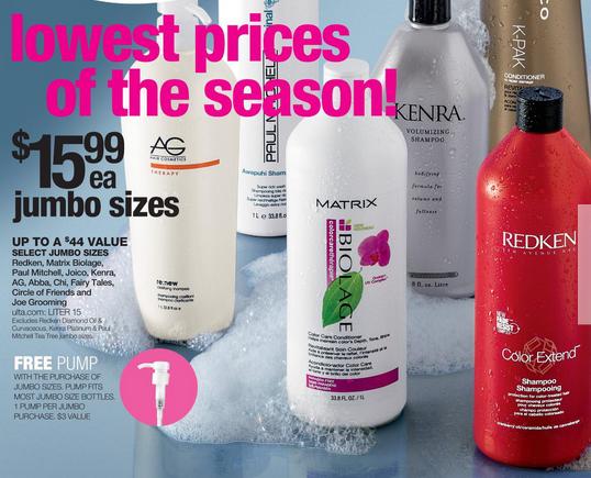 ulta salon brand shampoo liters 12 49 my frugal adventures