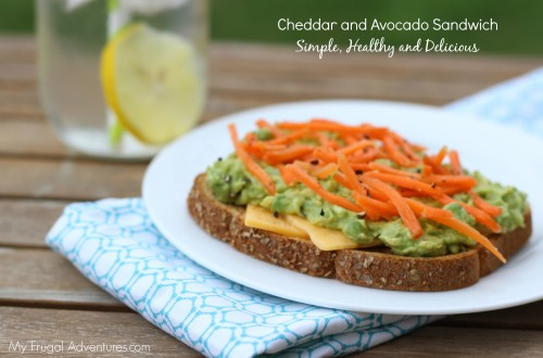Cheddar and Avocado Sandwich