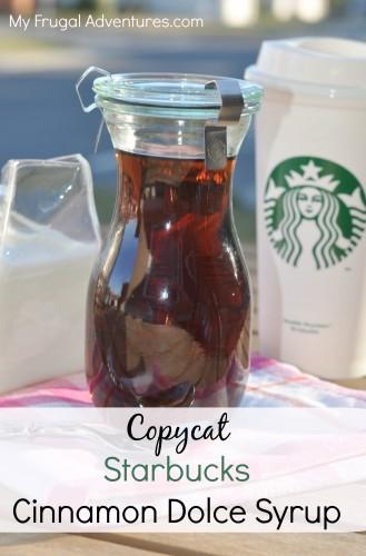 Copycat Starbucks Cinnamon Dolce Syrup Recipe