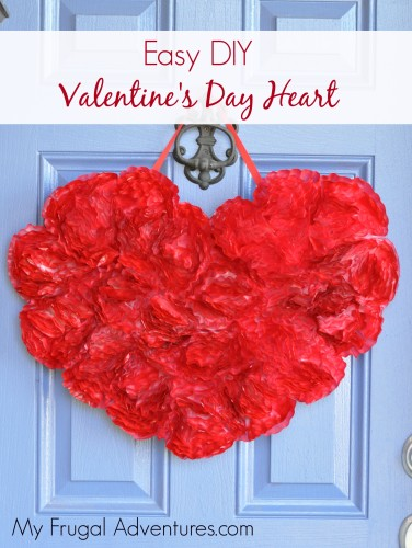 Easy Homemade Valentine's Day Wreath