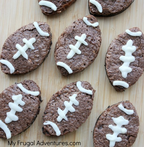 Football Brownie Recipe {Perfect for Super Bowl!}