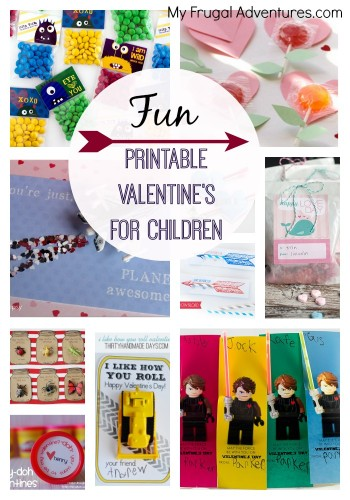 Fun Free Printable Valentine's for Children