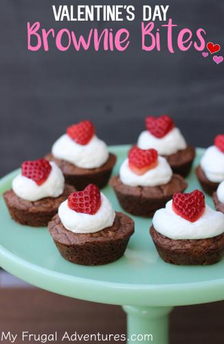 Valentines Day Brownie Bites Recipe