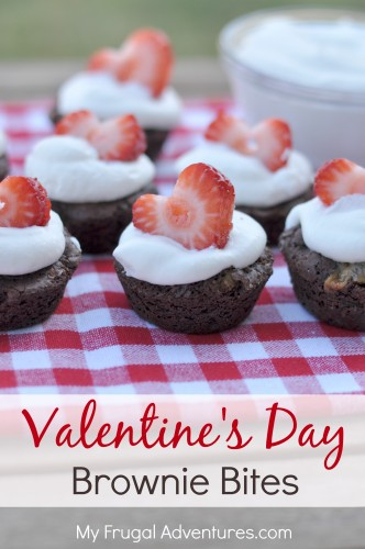 Valentine's Day Brownie Bites- so easy and delicious!
