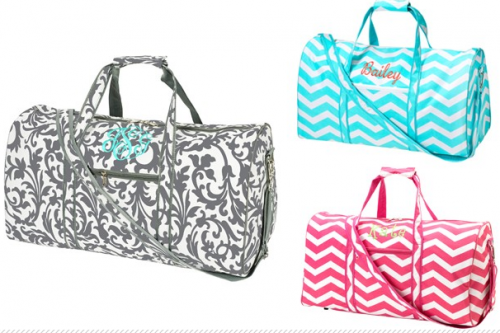 You Can Pick Up These Cute Monogrammed Duffle Bags For 30 Today