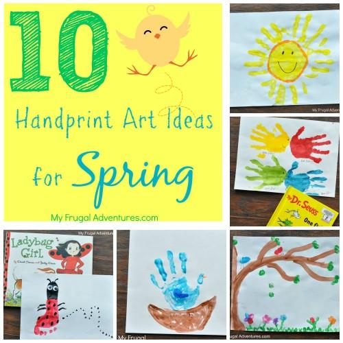 10 Spring Handprint Art Ideas For Children My Frugal Adventures