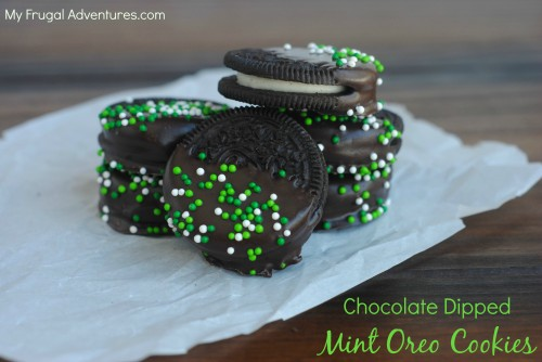 Chocolate Dipped Mint Oreo Cookies Recipe