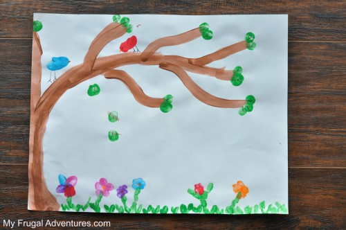 10 Spring Handprint Art Ideas for Children - My Frugal Adventures