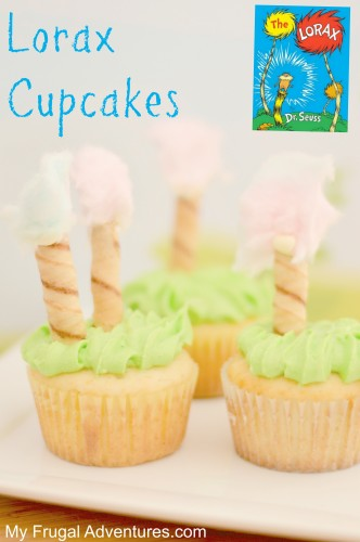 Lorax Cupcakes for Dr Seuss parties!