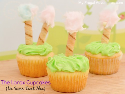Lorax Cupcakes- perfect for Dr Seuss parties or to celebrate his birthday!
