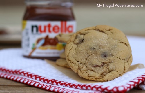 Nutella Stuffed Chocolate Chip cookies recipe- so amazing!