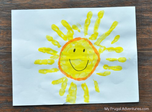 New  Handprint Art Ideas for Spring Sunshine