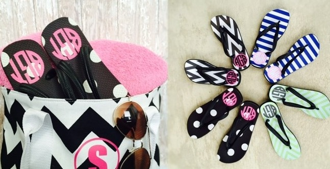 2d233b23c79 I saw these adorable Monogram Flip Flops and thought they were worth  mentioning. They are a little on the expensive side at  19.99 but I just  couldn t ...