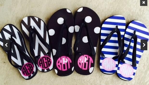 74d540ab152 Monogram Flip Flops  19  Cute Gift Idea  - My Frugal Adventures
