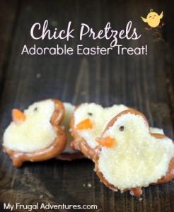 Chick Pretzels {Adorable Easter Treat Recipe!}