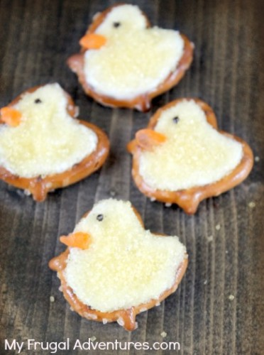 Fun Easter Treat Recipe Pretzel Chicks