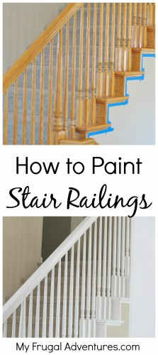 How To Paint Stair Railings  Budget Friendly And You Wonu0027t Believe The  Difference