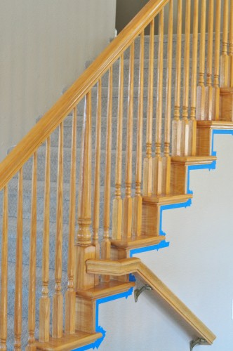 How To Paint Stairway Railing