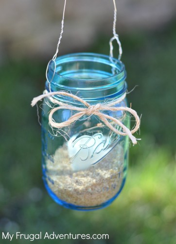 How to make a hanging lantern from mason jars