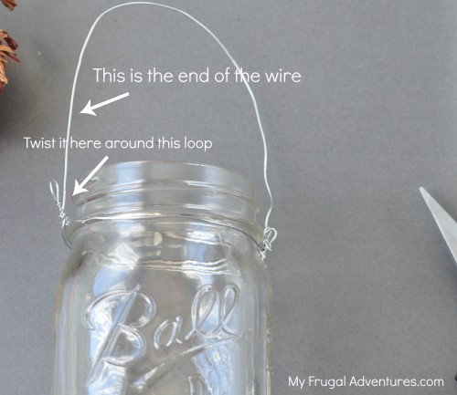 How to make hanging mason jars mason jar lanterns my for Hanging lights made from mason jars