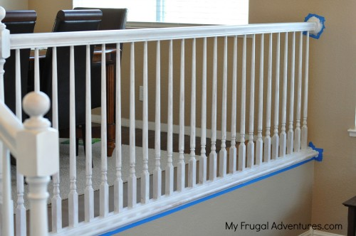 How To Paint Stair Railings Budget Friendly And You Won T Believe The Difference